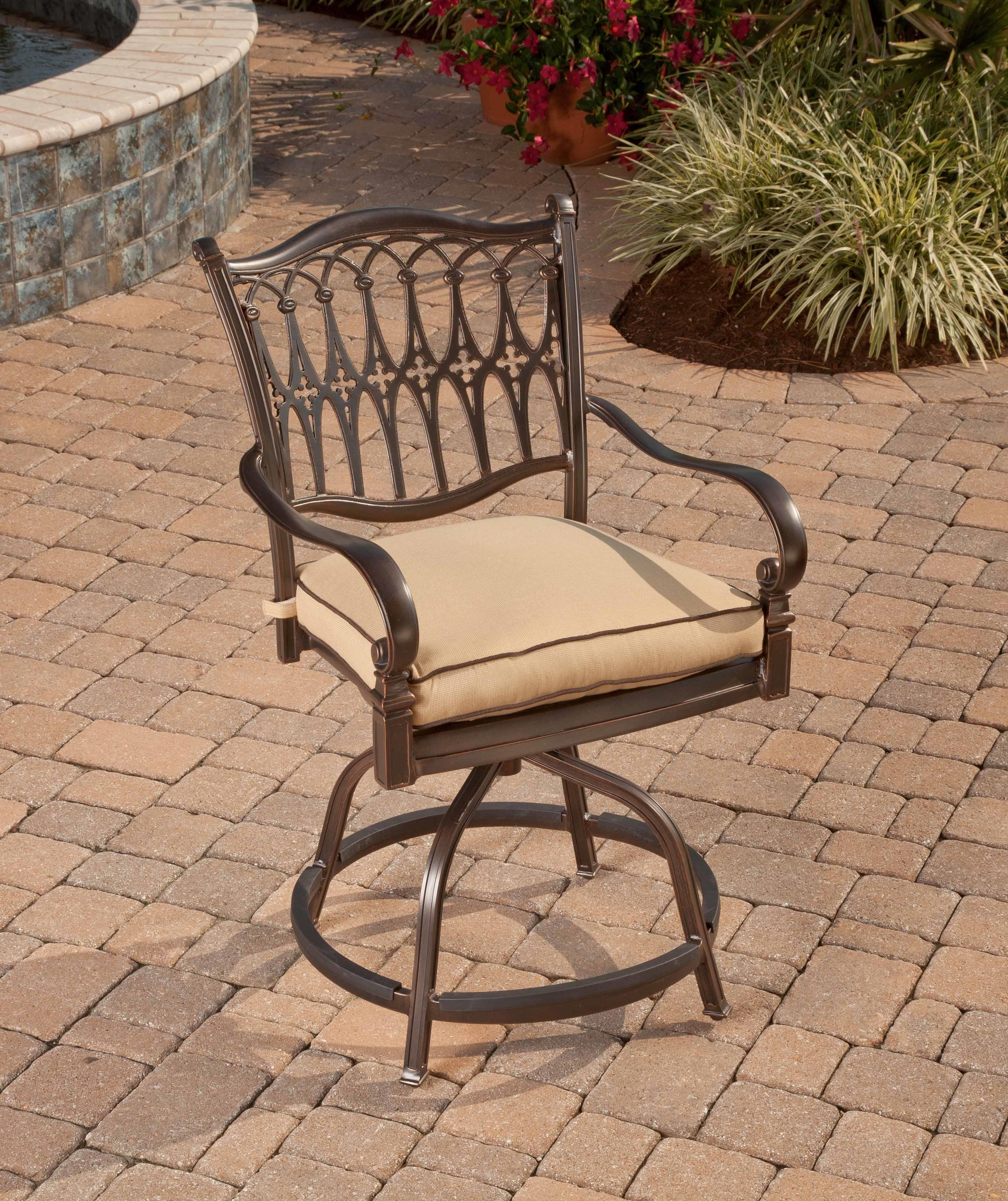 Agio Fire Pits 2016 Balmoral Swivel Barstool - Item Number: AAC08511P01