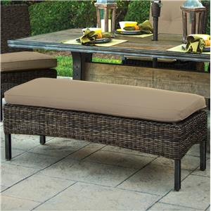 Woven Armless Dining Bench