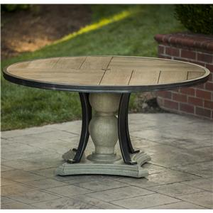 Round Porcelain-Top Dining Table
