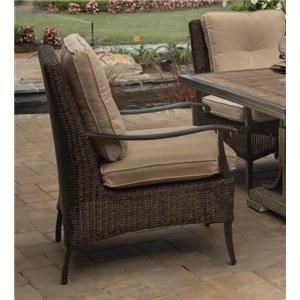 Agio Franklin 2016 Alumicast Woven Cushion Dining Chair