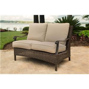 Agio Franklin 2016 Alumicast Woven Cushion Loveseat