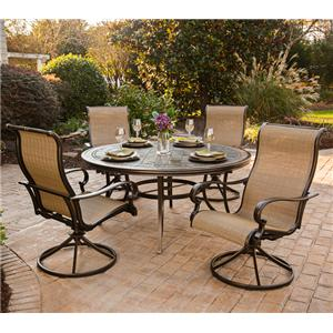 Agio Greenbrier Round Dining Table Set