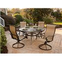 Apricity Outdoor Greenbrier Swivel Dining Arm Chair - 8523180
