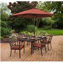 Agio Haywood Rectangular Dining Table w/ Umbrella Hole - ALF14412P01