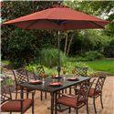 Apricity Outdoor Haywood 9 Ft. Market Umbrella - Item Number: AZB00205P25+BZS01304P12