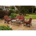 Apricity Outdoor Haywood 4 Piece Loveseat and Chair Set - Item Number: SACS00220-4AI