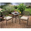 Apricity Outdoor Heritage Alumicast Outdoor Dining Arm Chair with Basket Weave Design - 50-157590-1145