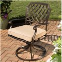 Agio Heritage Alumicast Outdoor Swivel Rocker Arm Chair Basket Weave Pattern - 50-157591-1145-2