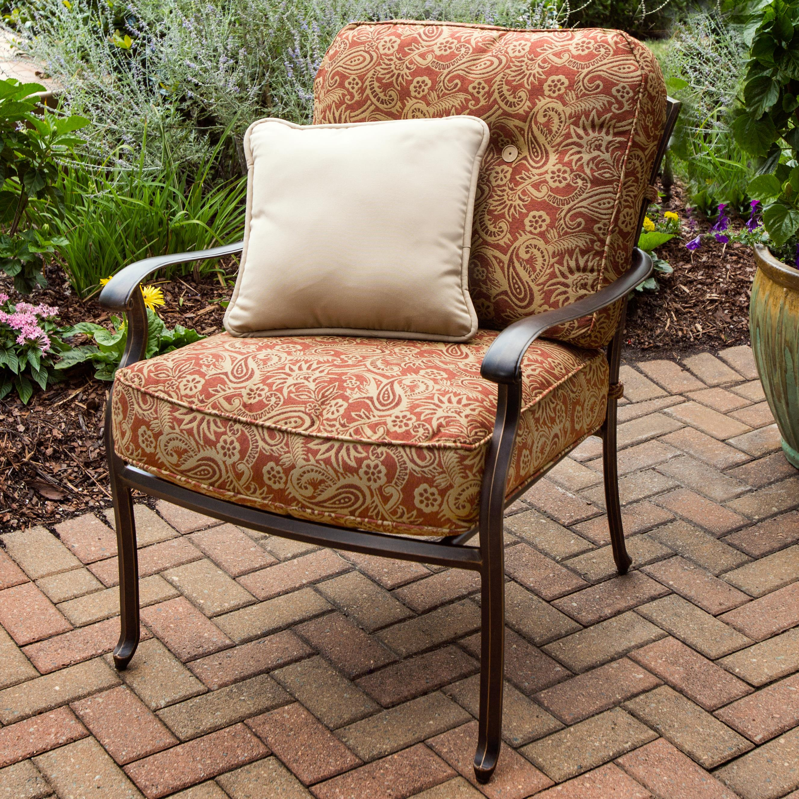 Agio Heritage Alumicast Deep Seat Outdoor Lounge Chair with