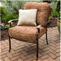Agio Heritage Alumicast Deep Seat Outdoor Lounge Chair with Traditional Trellis Design - 50-157890A-3103