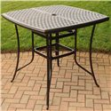 Agio Heritage 5 Pc Outdoor Pub Dining Set w/ Swivel Stools - 663-424251-216-1+1145-1