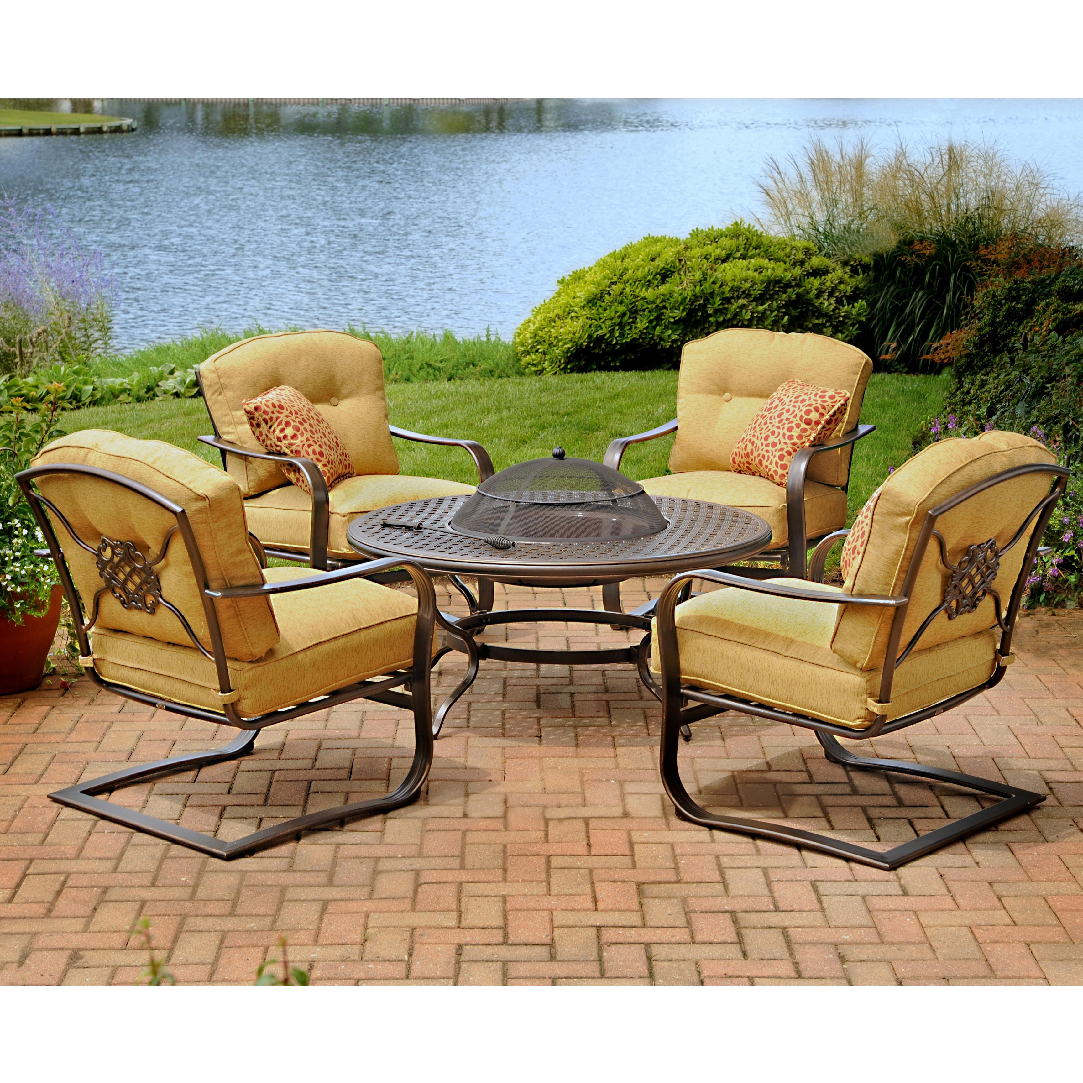 100 agio haywood fire pit oakland living haywood 5 piece for Agio heritage chaise lounge