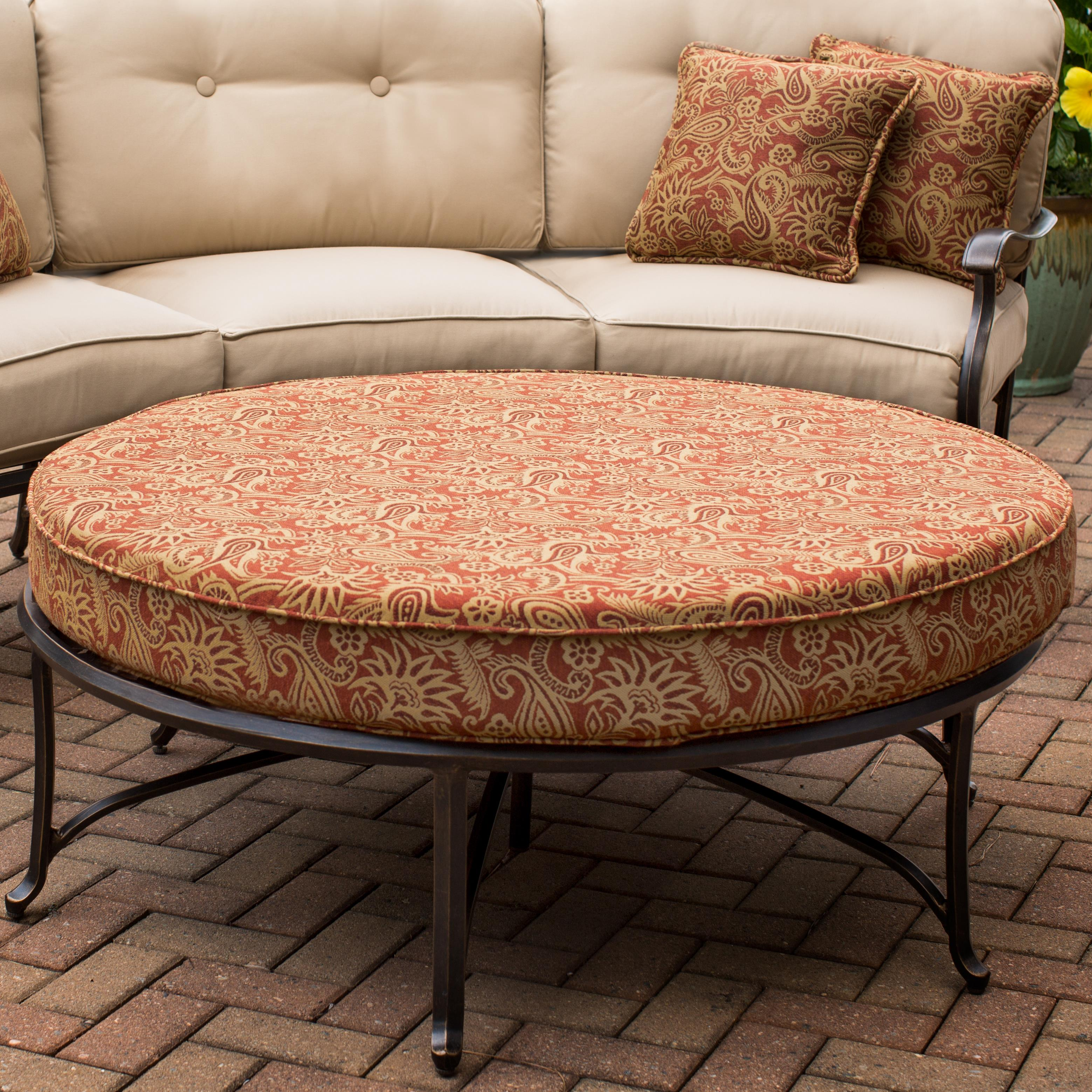 Agio Heritage Round Ottoman for Sectional Sofa FMG Local Home
