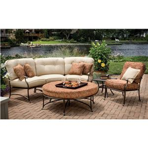 Agio Heritage Semi-Round Sectional Chat Set