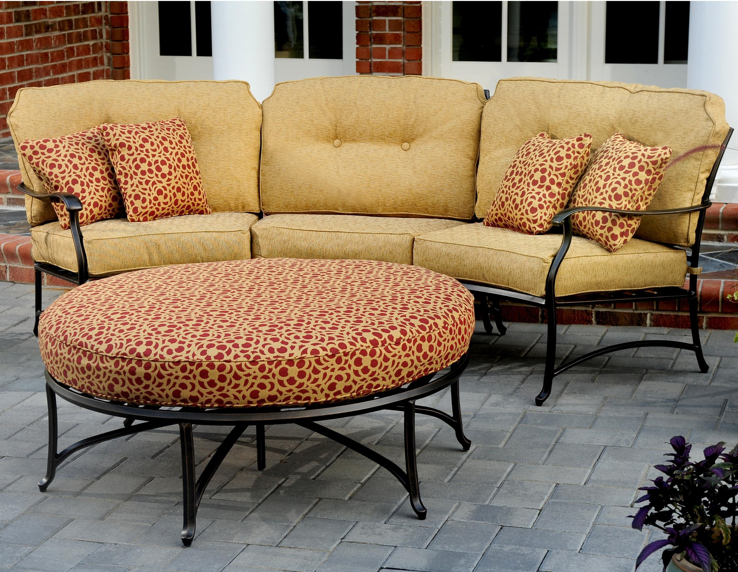 Agio Heritage Outdoor Semi Round Sectional Sofa AHFA Outdoor