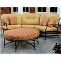 Agio Heritage Outdoor Semi-Round Sectional Sofa - AAS20833+29+34