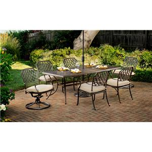 Agio Heritage 7-Piece Outdoor Dining Set