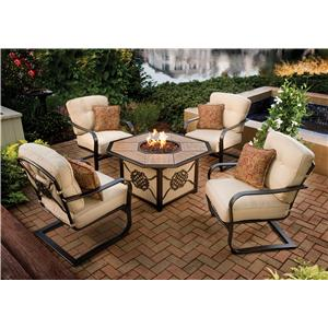 Agio Heritage Outdoor Fire Pit Chat Set