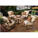 Apricity Outdoor Heritage Outdoor Fire Pit Chat Set - ARC01601+4x50-10430-3103