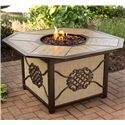 Agio Heritage Aluminum Gas Burning Fire Pit w/ Tile Inlay Top - ARC01601
