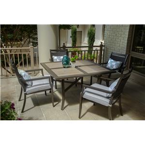 Agio Maddox Outdoor Dining Set with Cafe Table
