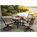 Agio Maguire 5Pc Dining Set - Item Number: ALH32417P01+4xADH06301P01