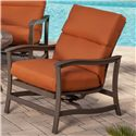 Agio Majorca Outdoor Spring Rocker Chair with Cushion and Cast Aluminum Frame - 0123848