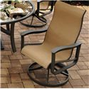 Agio Majorca Outdoor Sling Swivel Rocker with Inserted Woven Sunbrella Seat and Back and Aluminum Frame  - 0133333