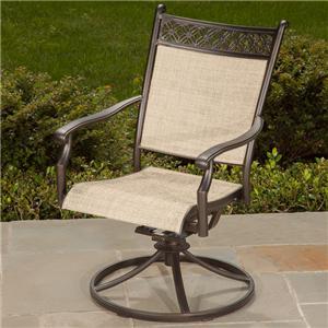 Agio Manhattan Sling Swivel Rocker Chair