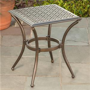 Stamped Top Side Table