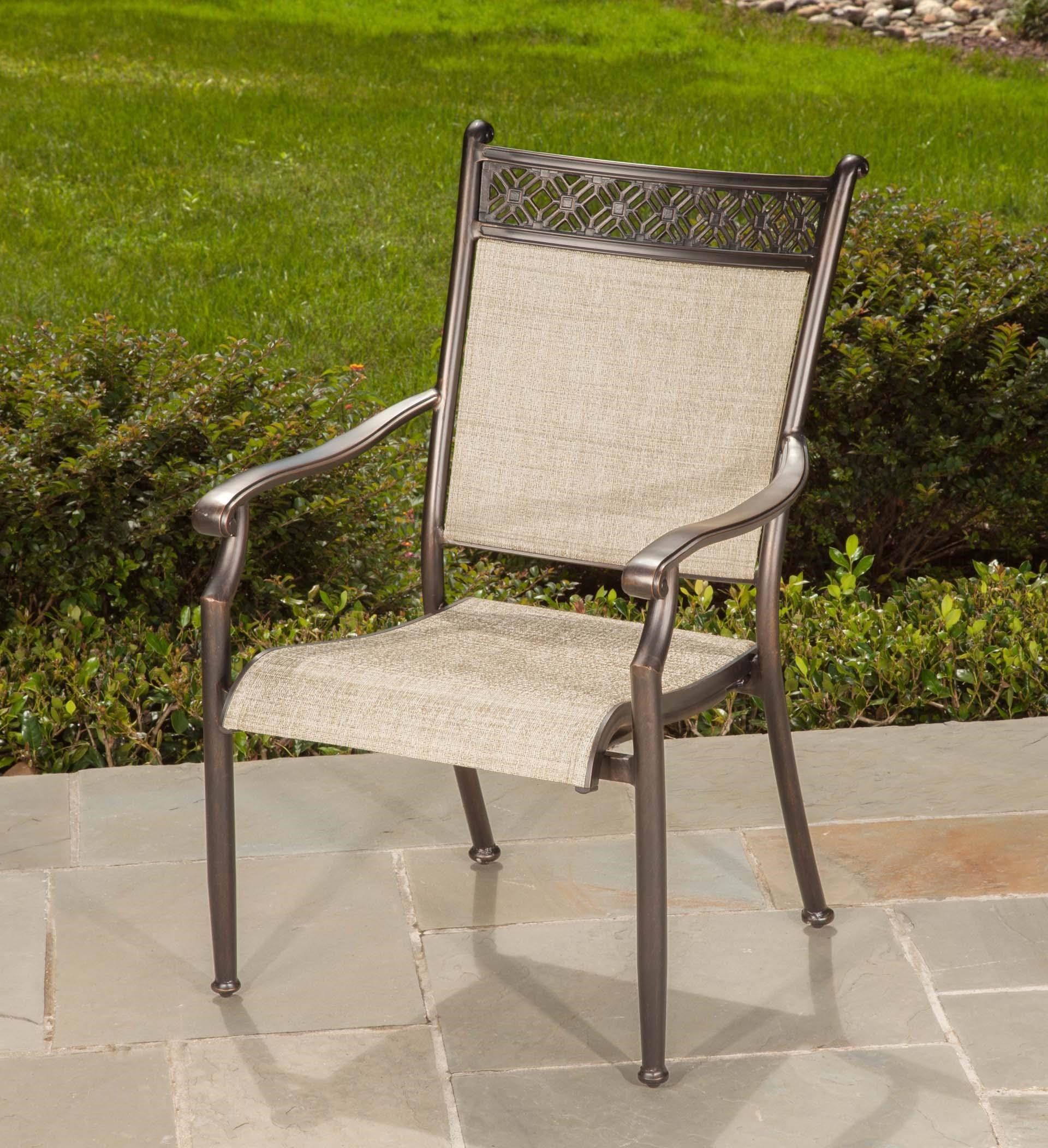 Cast Header Sling Dining Chair