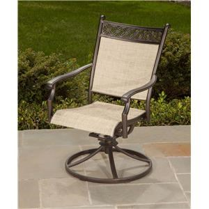 Agio Manhattan 2016 Cast Header Sling Swivel Rocker
