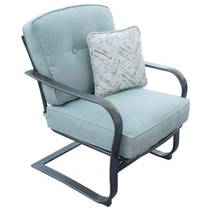 Outdoor Cushioned Spring Chair