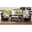Agio Monroe Contemporary Woven Chair with Cushion