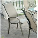 Agio Monterey 3 Outdoor Sling Dining Chair with Inserted Woven Seat and Extruded Aluminum Frame - 0099009