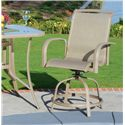 Agio Monterey 3 Outdoor Sling Balcony Swivel Chair with Woven Seat Insert and Extruded Aluminum Frame - 0099012