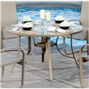 "Agio Monterey 3 48"" Round Glass Top Dining Table"