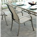 Apricity Outdoor Monterey 3 7 Piece Outdoor Dining Set with 4 Sling Dining Chairs and 2 Swivel Rocker Chairs with Woven Fabric Seat Insert and Extruded Aluminum Frame - 0129600