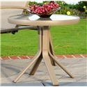 Agio Monterey 3 Outdoor Round Occasional Table with Glass Tabletop and Extruded Aluminum Frame - 0129859