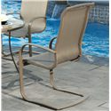 Agio Monterey 3 Outdoor Spring Sling Dining Chair with Woven Fabric Insert and Extruded Aluminum Frame - 0133354
