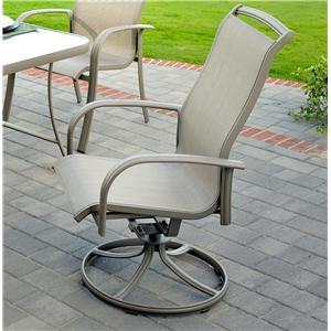 Agio monterey 3 outdoor spring sling dining chair with for Agio sling chaise lounge