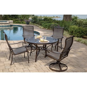 Agio Parkdale 5 Piece Round Dining Table and Chair Set