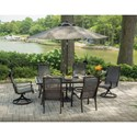 Apricity Outdoor Parkdale 7 Piece Table and Chair Set - Item Number: ALV32815P01+4xADV11800P01+2x1P01