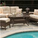 Apricity Outdoor Pinehurst Aluminum Woven Boat Shape Coffee Table - AKD01812