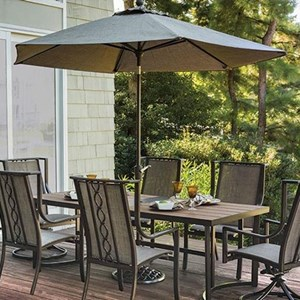 Agio Portland Agio Outdoor Market Umbrella and Base