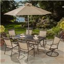 Apricity Outdoor Statton Aluminum Stamped Top Dining Table - ALS08714