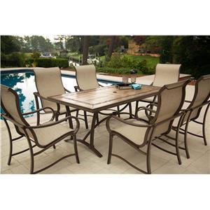 Agio Sullivan Dining Set with 6 Arm Chairs