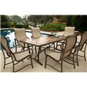 Apricity Outdoor Sullivan Dining Arm Chair with Curved Track Arms