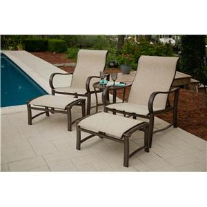 Agio Sullivan Half Chaise and Ottoman Set