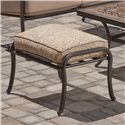 Agio Tradition Transitional Alumicast Outdoor Upholstered Ottoman - ACC05808